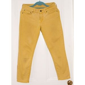 Levi's Cropped Yellow Denim